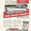 1951 Texaco Marine Products Ad Featurinh Richardson 32' Cruiser