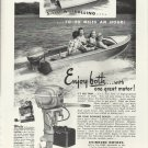 1951 Evinrude Motors Ad- The 25 HP. Big Twin Outboard Motor