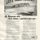 1951 Welin Davit And Boat Ad- The 26' Deluxe Sedan