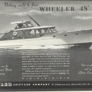 1951 Wheeler Shipyard Company Ad- The Wheeler 48'
