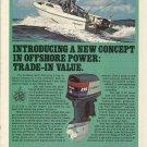 1981 Evinrude Outboards Color Ad- The V6 225 HP Outboard Motor-Aquasport Boat