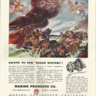 "1944 WW II Marine Products Co Color Ad- Landing Boats ""Beach Buster""!"