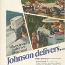 1968 Johnson Motors 2 Page Color Ad- 55 HP Outboard Motor