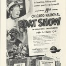 1952 Chicago National Boat Show Ad- International Amphitheatre