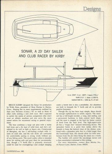 1980 Ross Marine Inc Sonar 23' Day sailer Boat Review & Specs