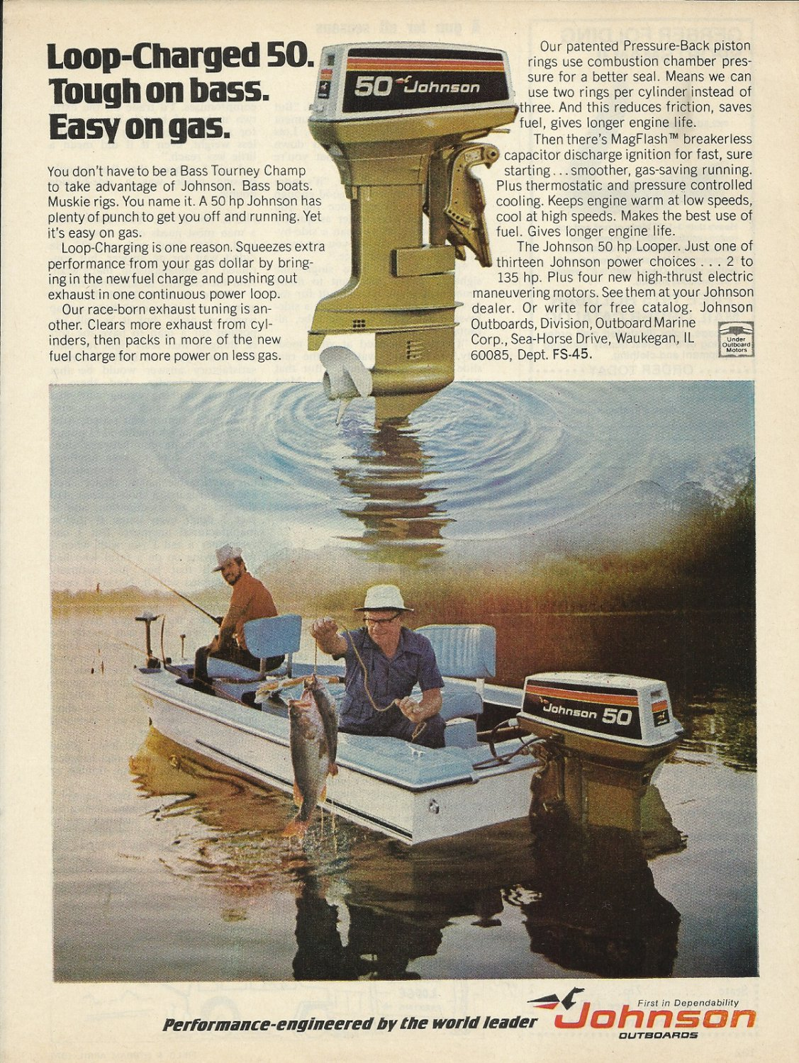 1975 Johnson Outboards Color Ad
