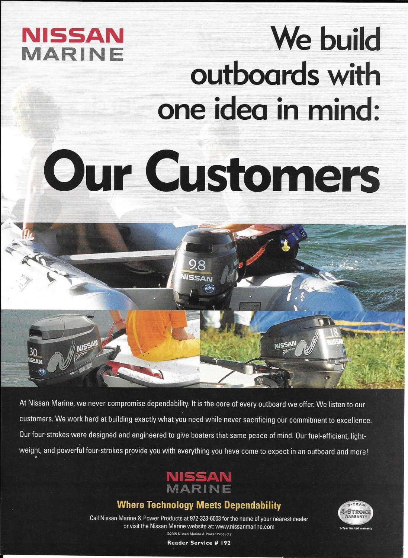 2005 Nissan Marine Color Ad- 9.8 & 3.0 HP Outboard Motors