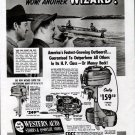 1950 Wizard Outboard Motors Ad- The Wizard 16 & 6 HP.