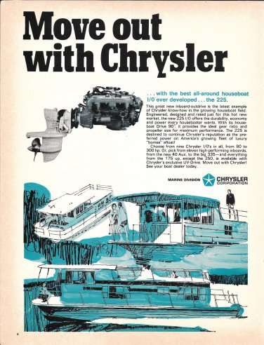 1969 Chrysler Marine Corp Ad- The 225 HP Inboard/ Outboard