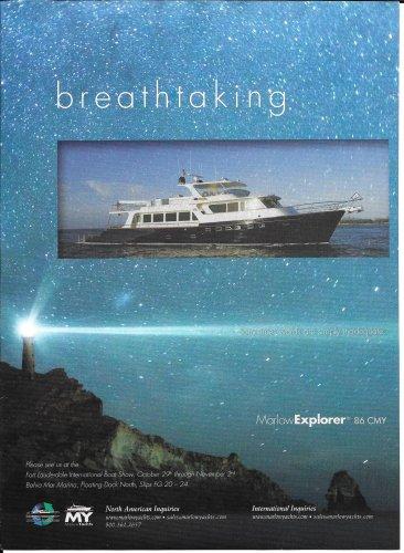 2009 Marlow Explorer 86' Motor Yacht Color Ad