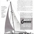 1947 Pwens Yacht Company Ad- The 40' Auxiliary Cutter- Specs