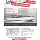 1947 Texaco Marine Ad Featuring 1947 Elco 47' De Luxe Cruiser