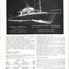 1949 Hubert S Johnson Boats Ad- 45' Sport Fisherman