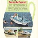 1969 Molded Fiber Glass Boat Company Color Ad- MFG Boats- 3 Models