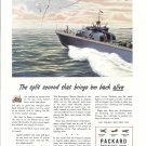 1944 WW II Packard marine Engines Color Ad-U S Navy PT Boat