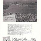 1957 Chubb & Son Insurance Ad-Great aerial Photo of Newport Rhode Island
