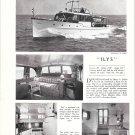 "1952 Henry C Grebe Yacht Ad- The 53' ""Ilys"""