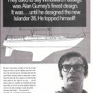 1971 Islander Yachts Ad- The Islander 36- Alan Gurney