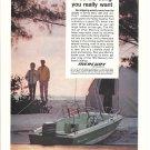 1974 Mercury Marine Color Ad- 40 HP. Merc 402 Outboard Motor-Crestliner Boat
