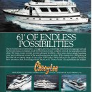 1984 Cheoy Lee Shipyards Color Ad- The 61' Cockpit Motor Yacht