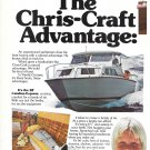1977 Chris- Craft Yacht Corp 2 Page Color Ad- The 28' & 33' Catalina- 39' Corinthian