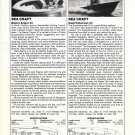 1982 Sea Craft Angler 20 & Superfisherman 23 New Boats Reviews & Specs-Photos