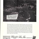1966 Chubb & Son Insurance Ad-Great Aerial Photo of Mount Desert Island Maine