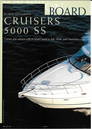 1998 Cruisers 5000 SS Yacht Review & Specs- Photos