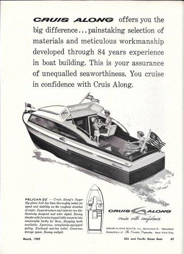 1959 Cruis Along Boats Ad- The Pelican 22'