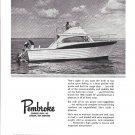 1966 Pembroke Boats Inc Ad- The 32' Sportfisherman