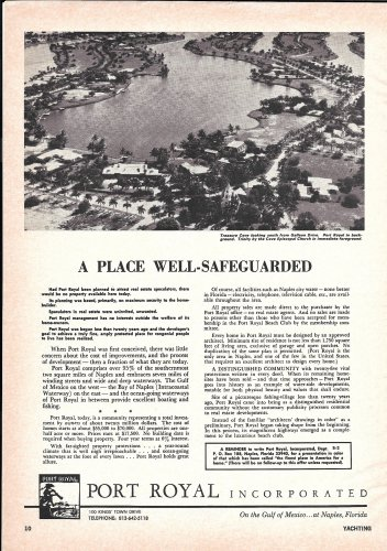 Old Port Royal Naples Florida Ad-Great Aerial Photo Treasure Cove