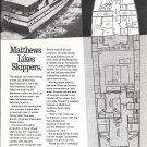 1967 Matthews Yacht Company Ad- The 60' Voyageur