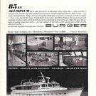 """1968 Burger Boat Company Ad- The Burger 85' """"Aquarius"""""""