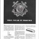 1942 WW II Anaconda Copper & Brass Ad-U S Coast Gurad Auxiliary Theme