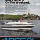 1987 Regal Boats Color Ad- Lighthouse & Hot Girl