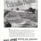 1945 WW II Hall- Scott Motor Car Co Ad- Fairmile Flotilla