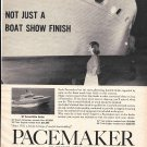 Old Pacemaker Wood Cruisers Ad- 30' Convertible Sedan
