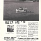 1970 American Marine LTD Ad- Nice Photo of Grand Banks 32 Diesel Cruiser
