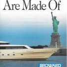 1991 Broward Marine 2 Page Color Ad-Great Photo 118' Camille-Statue of Liberty