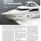 2004 Horizon 70 Motoryacht Review & Specs- Nice Photos