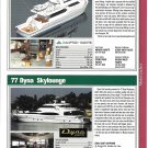 2004 Hampton 740 & Dyna 77 New Yacht Reviews & Specs- Photos