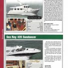 2004 Sea Ray 420 & North Pacific 42 New Yachts Reviews & Specs- Photos