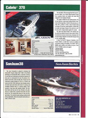 2004 Cabrio 370 & SanJuan 38 New Yachts Reviews & Specs- Photos