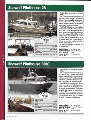 2004 Seawolf 28 & Seawolf 30LC New Yachts Reviews & Specs- Photos