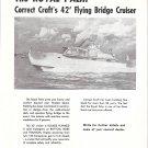 1953 Correct Craft Inc Boats Ad- Photo of Royal Palm 42' Cruiser