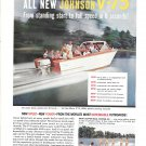 1960 Johnson V-75 HP. Outboard Motor Color Ad- Nice Photo