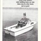 1970 Stamas V-21 Apollo Boat Ad- Nice Photo