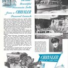 Old Chryler Marine Engines Ad- Nice Photo Wisconsin Dells Tour Boat