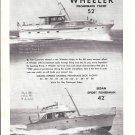 1957 Wheeler Yacht Company Ad- Nice Photos of 52' & 42' Models