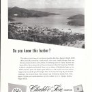1956 Chubb Insurance Ad- Nice Photo of St. Thomas Harbor, Virgin Islands